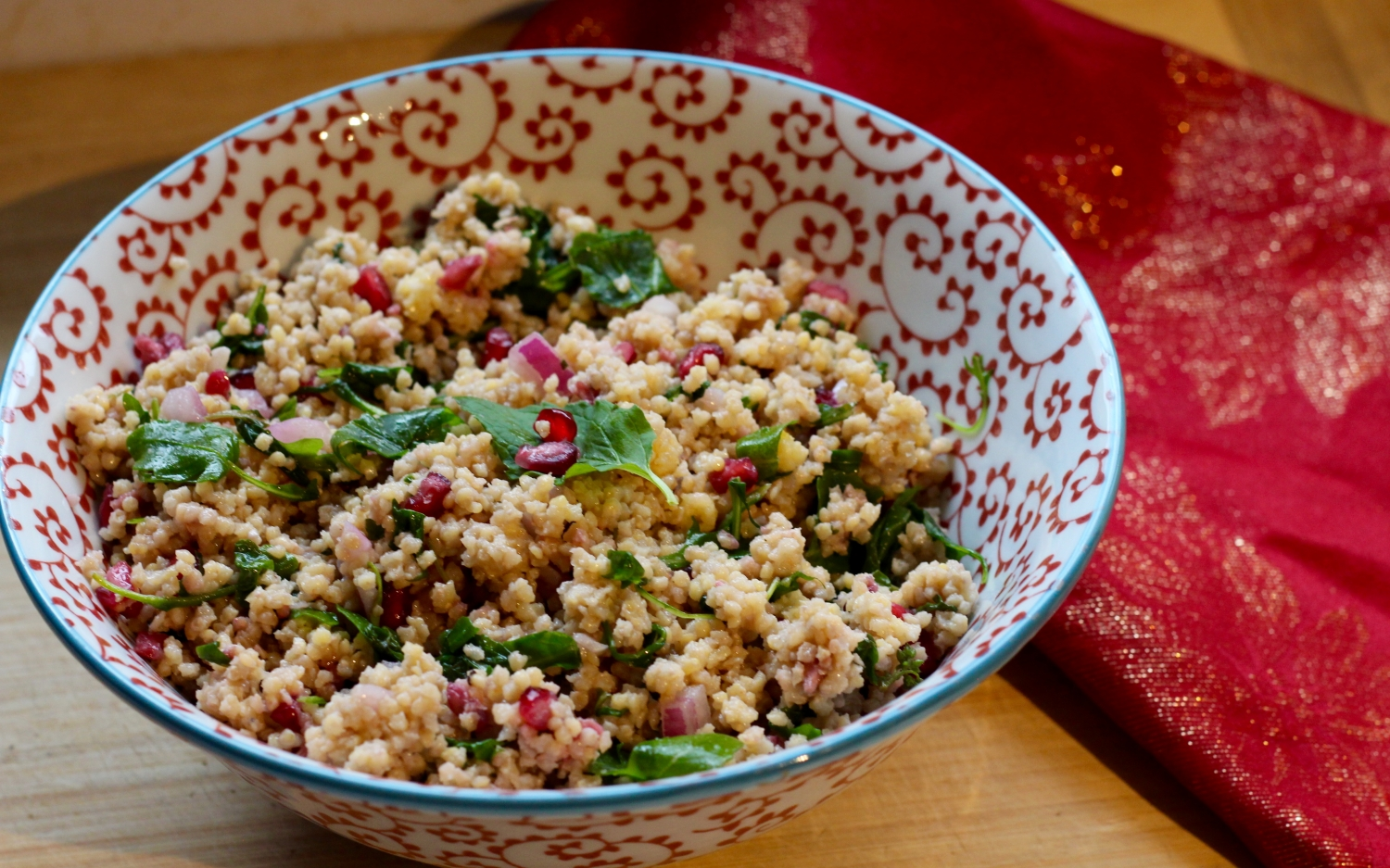 Millet Salad w Pomegranate & Mint