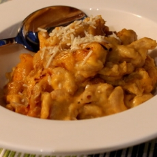 Baked Pumpkin Mac n' Cheese