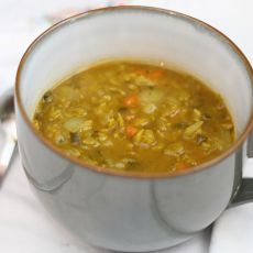 Smokey Vegan Split Pea Soup