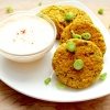 Chickpea Cakes with Lemon, Garlic Aioli
