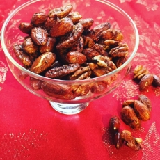 Maple and Mexi Spiced Roasted Nuts