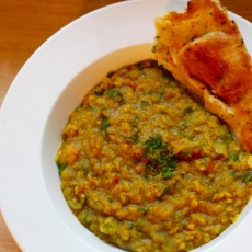 Vegan Red Lentil and Spinach Dal
