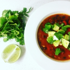 Chili Lime Mexican Bean Soup