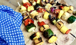 Grilled Pineapple Tofu Skewers