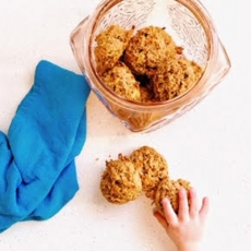Whole Grain Apple Carrot Toddler Cookies
