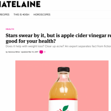 Stars Swear by it, But is Apple Cider Vinegar Really Good for your Health?