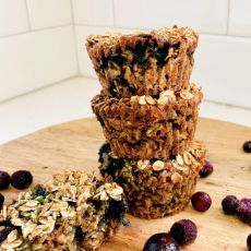 Vegan Blueberry Baked Oatmeal Cups