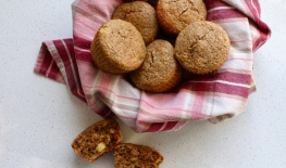 Whole Wheat & Chickpea Flour Pineapple Bran Muffins